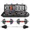 Adjustable weight dumbbell set, free weight set with connecting rod 50KG/110LB