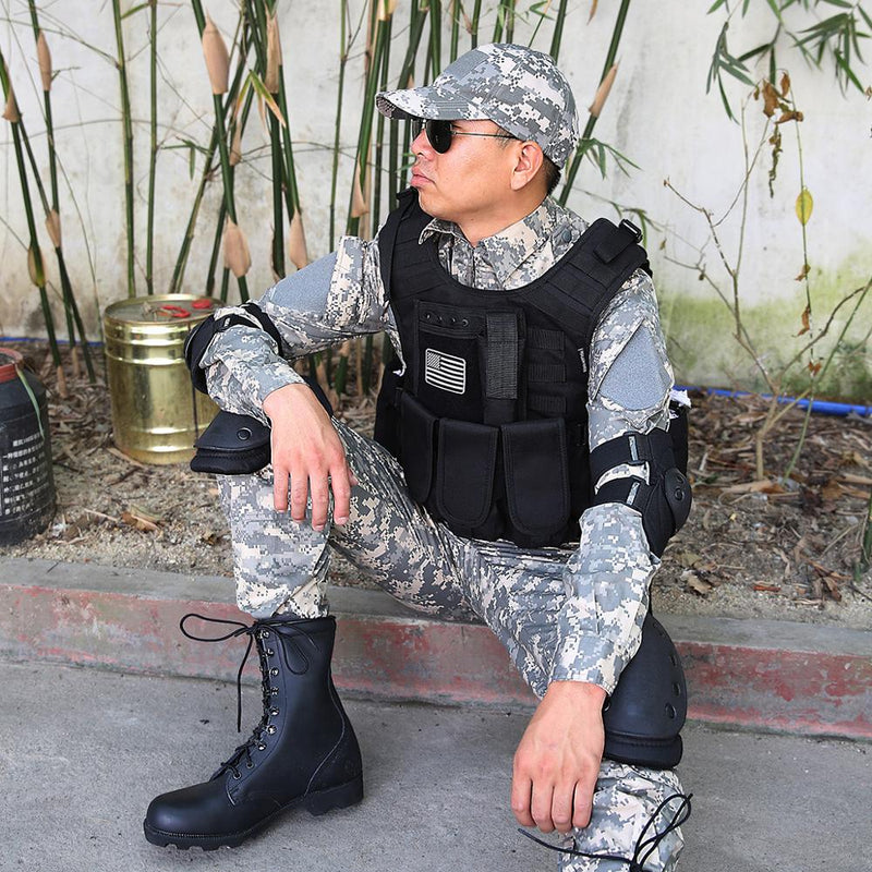 MGFLASHFORCE Molle Airsoft Vest Tactical Vest Plate Carrier Swat Fishing Hunting Vest Military Army Armor Police Vest