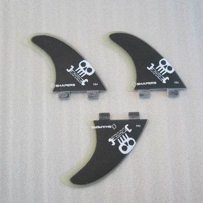 Fibreglass thruster fin set CGA