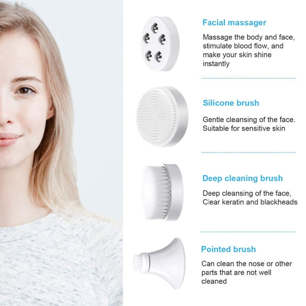 4 in 1 Facial Cleansing Sonic Brush