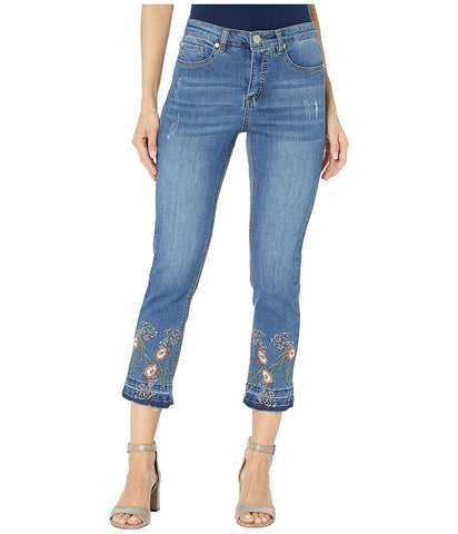 Women's Fall Flirt w/Released Hem Embroidered Jeans