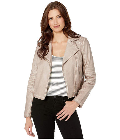Women's Cropped Biker Jacket