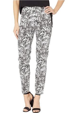Women's Botanical Print Pull On Ankle Pant