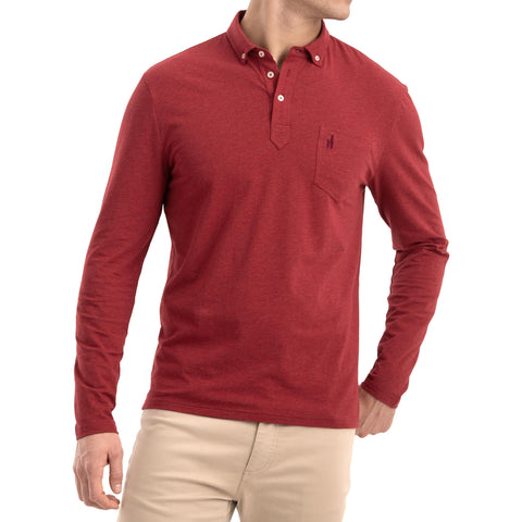 Men's Vince Long Sleeve Polo