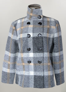 Wool Blend Plaid Jacket