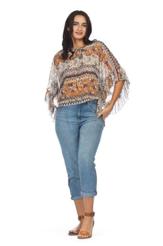 Women's Poncho Cropped Top