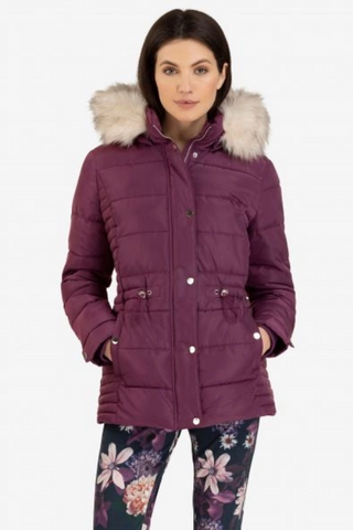 Women's Puffer Jacket w/Detachable Hood