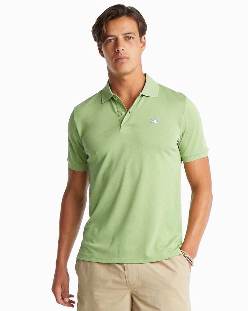 Men's Jack Heathered Perfomance Polo