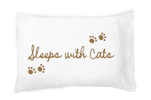 Sleeps With Cats Pillowcase - Single