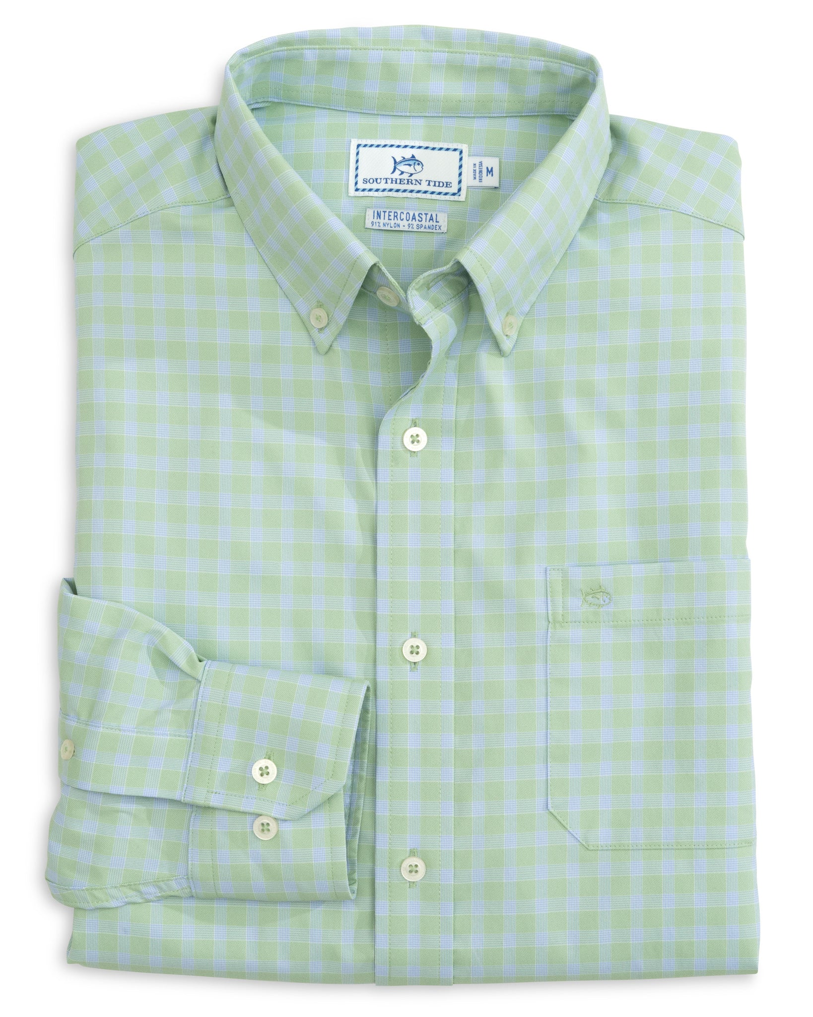 Men's Astern Check Intercoastal Perfomance Sport Shirt