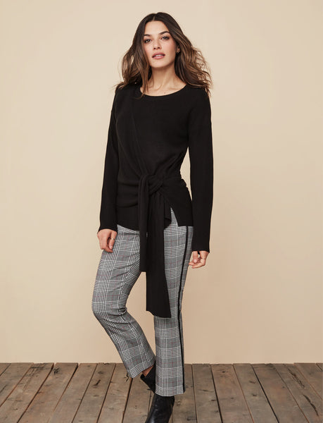 Women's Pull On Ankle Pants w/Tuxedo Stripe