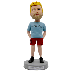 Blue T-Shirt Men Bobblehead | Customtobox