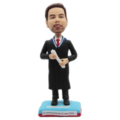 Black Baccalaureate Gown  Custom Bobblehead | Customtobox