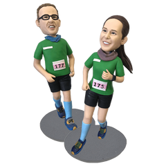 Marathon Two People Custom Bobblehead | Customtobox