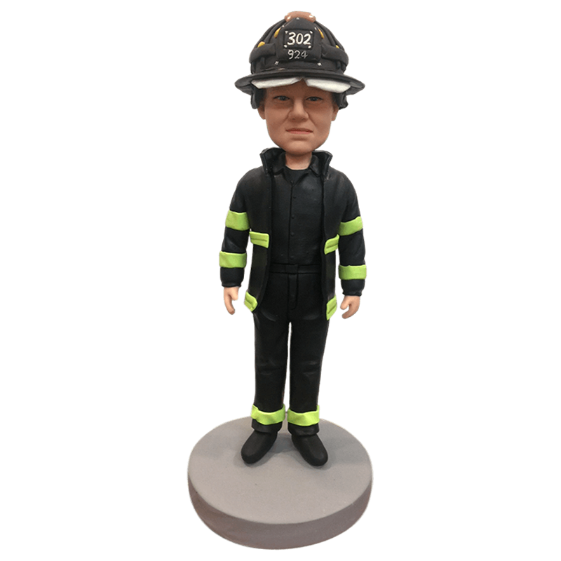 Firefighter Custom Bobblehead | Customtobox