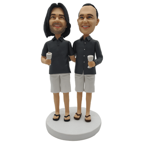 2 Person Fully Customizable Bobblehead | Customtobox