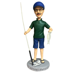 Fishing Man With Fish Custom Bobblehead | Customtobox