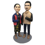 Daily Couple Custom Bobblehead | Customtobox