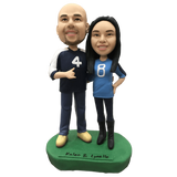 Sportswear Couple Custom Bobblehead | Customtobox