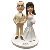 Wedding Couple With Bouquet Bobblehead | Customtobox