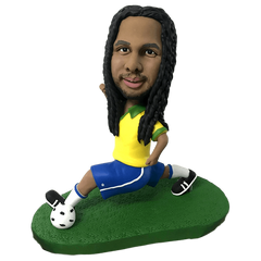 Man In Jersey Playing Football  Bobblehead | Customtobox
