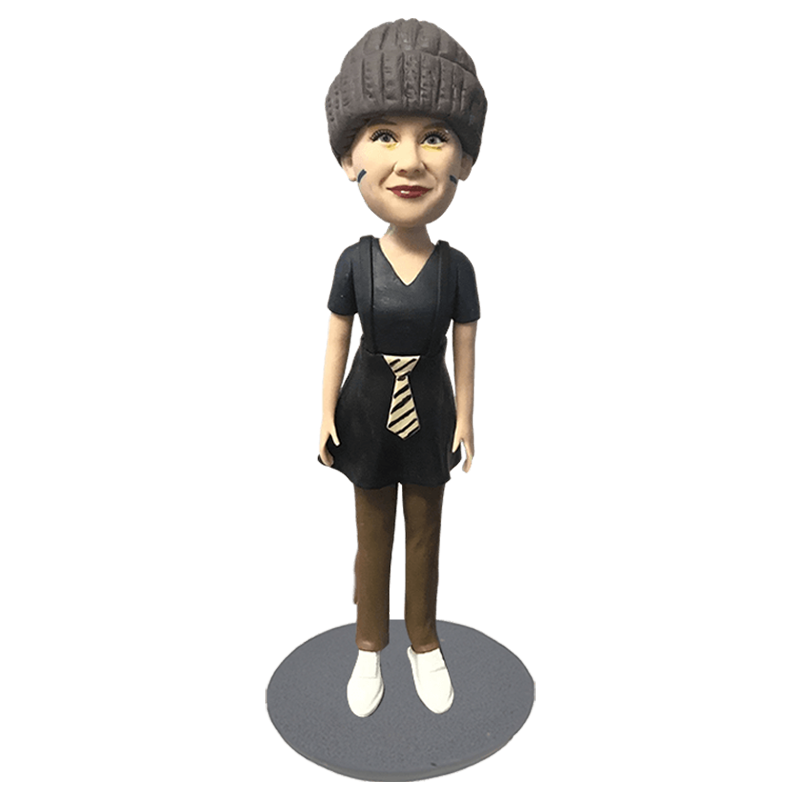 Black Dress Woman Custom Bobblehead | Customtobox