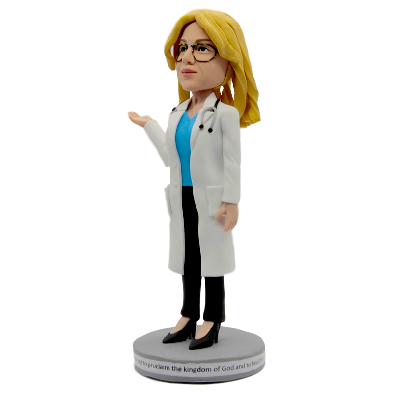 Woman Doctor With Stethoscope  Bobblehead | Customtobox