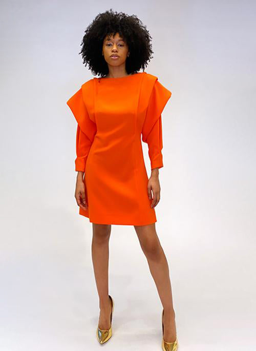 ORIGAMI SLEEVE  DRESS