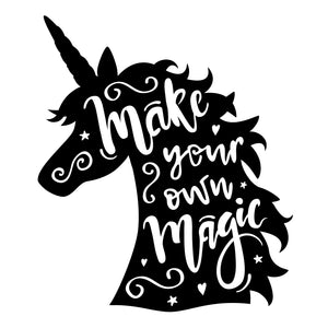 Make your own magic | Unicorn Head | Metal Wall Art