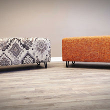 Load image into Gallery viewer, Custom Ottoman Mid Century Inspired