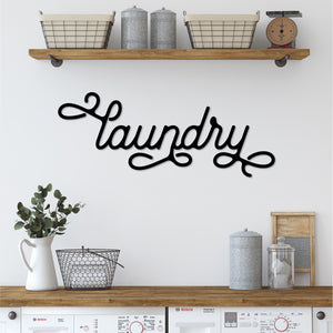Laundry Sign | Metal Wall Decor