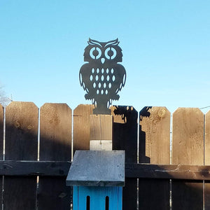 Fence Post Owl / Outdoor Decor