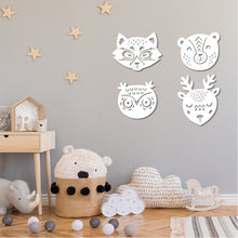 Load image into Gallery viewer, Woodland Creature Faces / Nursery Decor