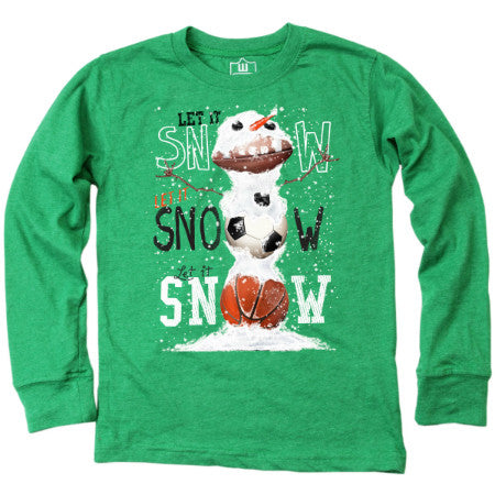 Let it Snow Tee in Green