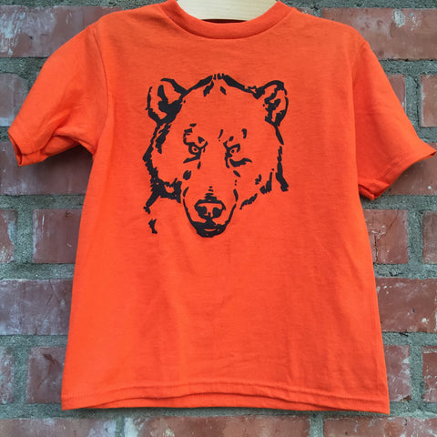 Bear Head Orange Tee