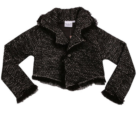 Ooh La La Couture Coco Tweed Jacket Black