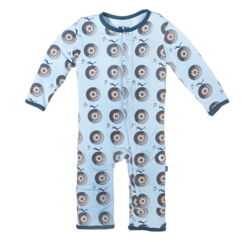 Kickee Pants Pond Record Birds Coverall
