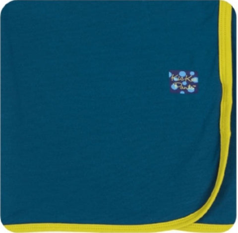Kickee Pant Oasis in Citronella Swaddling Blanket