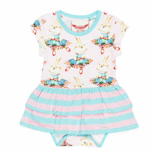 Ballet Bunny Skirted One Piece by Paper Wings