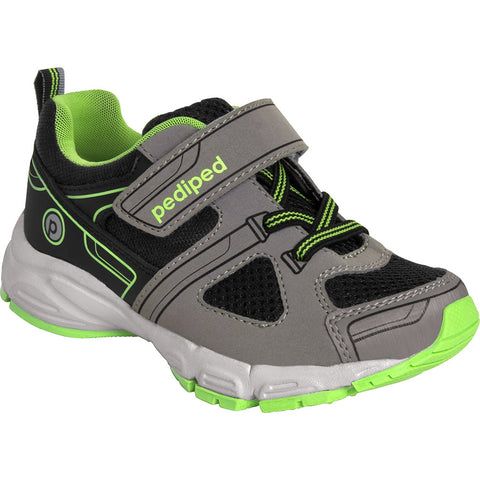 Mars Charcoal and Lime Tennis Shoe