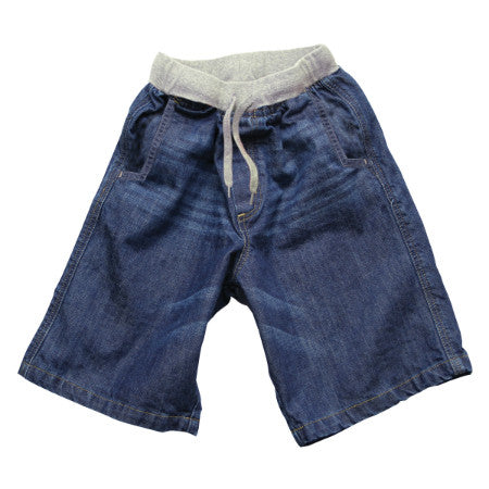 Rib Waist Denim Short