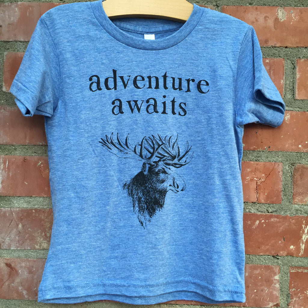 Adventure Awaits Vintage Blue Tee