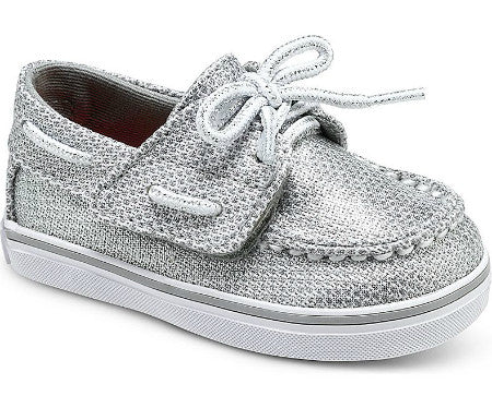 Sperry Baby Bahama Topsider in Silver