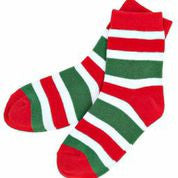 Candy Cane Stripe Socks