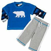 Polar Bear Tee and Track Pant Set