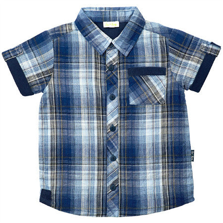 Le Top Plaid Shirt with Navy Trim