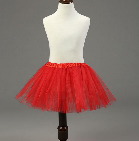 Red Tutu Tulle Skirt