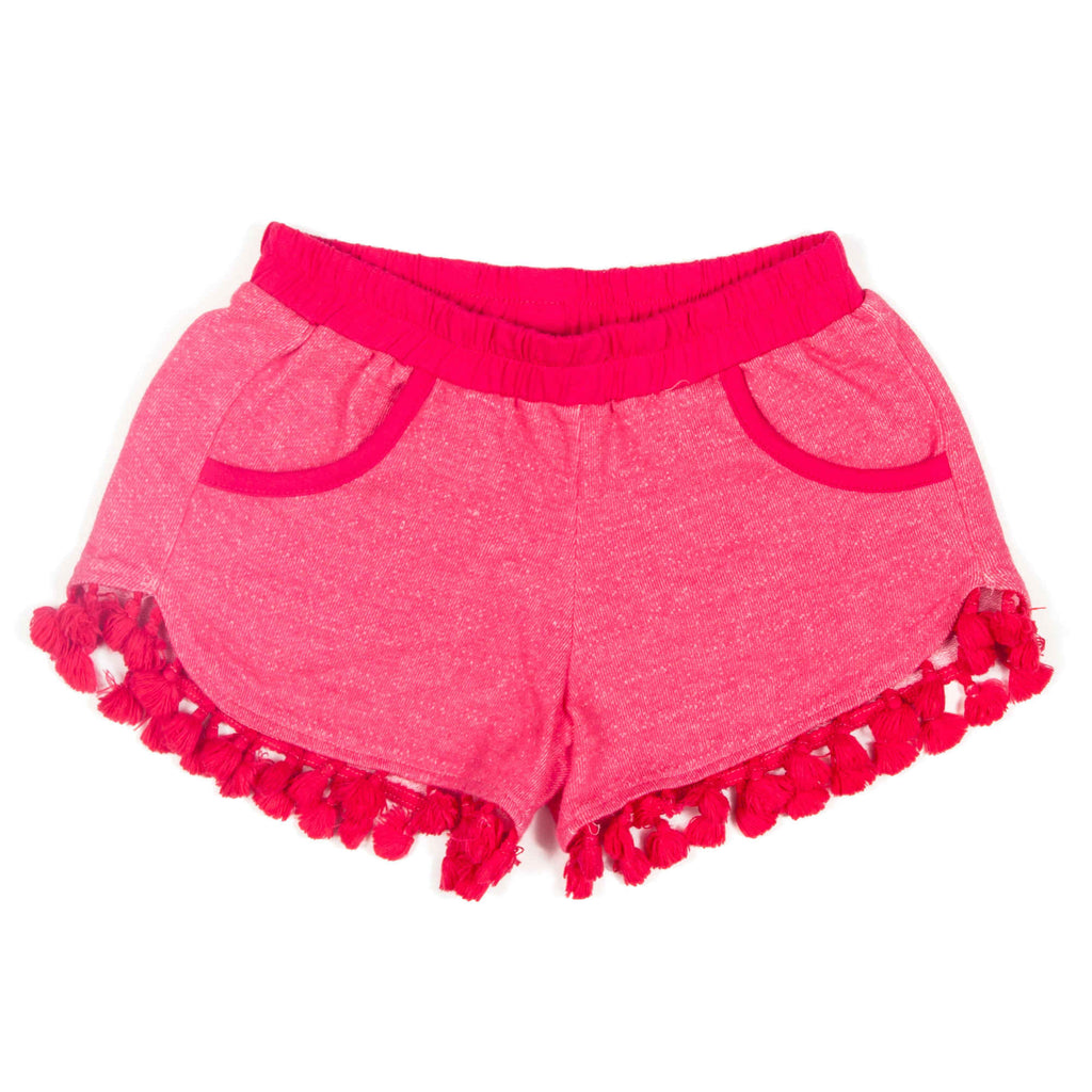 Tassle Shorts in Watermelon