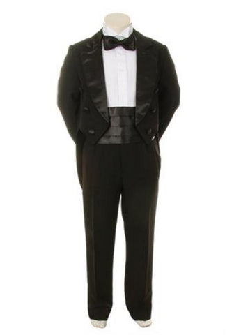 Size 4T Boys Tuxedo Black with Tails