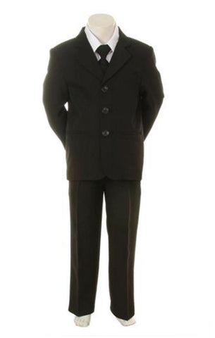 Size 4 Boys Suit Black
